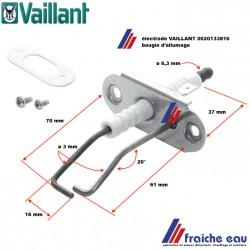 bougie d'allumage, électrode pour chaudière à condensation VAILLANT art : 0020133816 , Ontsteekelektrode voor condensatie ketel
