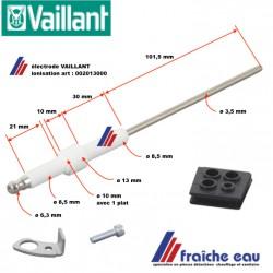 électrode d'ionisation VAILLANT 0020130800, bougie de contrôle, ionisationelektrode voor condensatie ketel