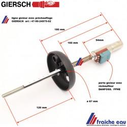 ligne gicleur GIERSCH  art 47-90-24975-02 avec préchauffage de ligne DANFOSS FPHE