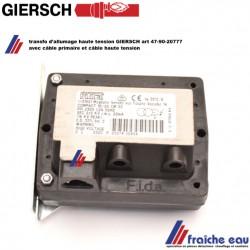 transformateur d'allumage à haute tension pour brûleur mazout GIERSCH art 47-90-20777