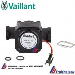 générateur, capteur de débit avec dynamo intégrée , turbine  VAILLANT, stromingssensor 0020068020,