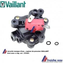 sécurité manque d'eau VAILLANT 151041 , détecteur de pression, pressostat ,capteur de pression, drukverschilschakelaar