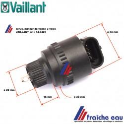 moteur de vanne 3 voies, servo moteur VAILLANT 140429, actuator, regelmotor  voor driewegklep