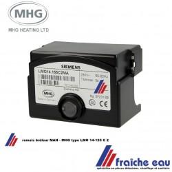 coffret de sécurité ,automate de combustion ,relais , bloc de contrôle SIEMENS pour bûleur  MAN - MHG type LMO 14-155 C 2 MA