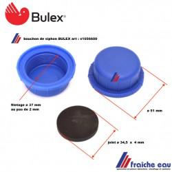 bouchon de siphon BULEX  s1056600 livré avec joint d'étanchéité, également pour SAUNIER DUVAL