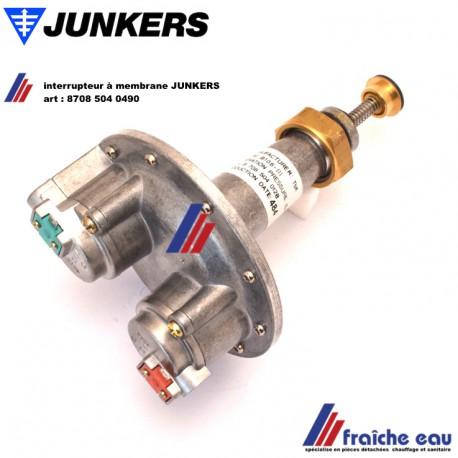 interrupteur à membrane pour vanne gaz  JUNKERS art : 8708 504 0490 capteur de pression  pour chauffe eau au gaz