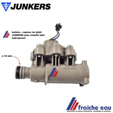 turbine, capteur de débit, hydrogénérateur débistat JUNKERS  WRD 11-2 pour chauffe eau hydropower