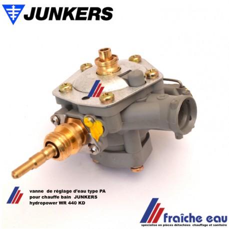 valve a eau, robinet de réglage de débit d'eau chaude JUNKERS type PA pour chauffe eau au gaz