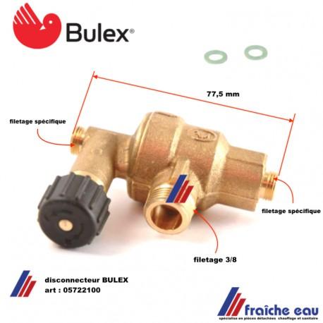 disconnecteur BULEX 05722100 pour ISOFAST- ISOMAX -ISOTWIN, décharge du circuit de remplissage de chaudière