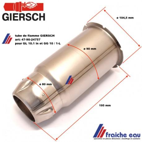 tube de flamme GIERSCH 47-90-24757, geulard de brûleur fioul  pour GL10.1 et GG 10.1