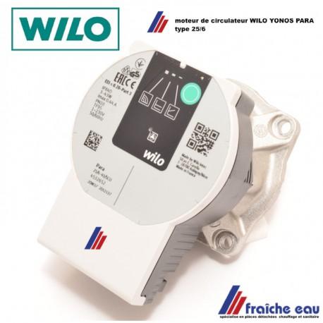 moteur de circulateur électronique WILO YONOS  RS 25/6 remplacement de la tête de pompe en échange standard