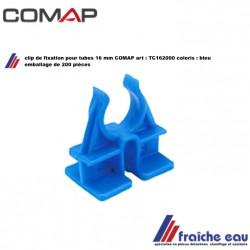 clips de fixation COMAP TC162000 pour tube 16 mm sur treillis pour chauffage par le sol, clip bleu TC1620 plancher chauffant