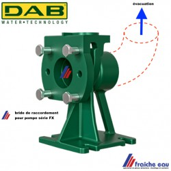 accouplement  DN 50, bride de maintien, support pour pompe stationnaire  DAB FXV  20 , filetage 2 pouces