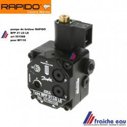 pièces de chauffage oliebrander HERRMANN , pompe DANFOSS BFP 21 LG LE spécifique brûleur mazout RAPIDO type BF110 code : 551588