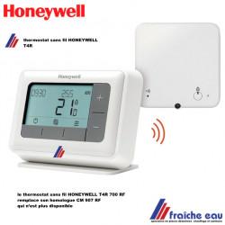 le thermostat programmable sans fils HONEYWELL  CM 927 RF est remplacé par son homologue T4R 700 RF