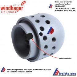 dôme primaire pour chaudière à pellets WINDHAGER  FIRE WIN et BIO WIN art: 046212  primärluftdorn keramik remplace 007211