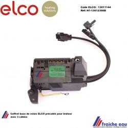 coffret , base de relais , 3 câbles ELCO 13011144, socle pour coffret de sécurité H1-13012300.D pour brûleur V-BL 01 et EK01B