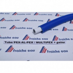 tube PEX-AL-PEX  ø 16 x 2 mm rouleau 50 mètres gaine bleu