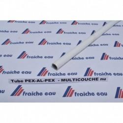tube multicouche blanc eau potable  diamètre 16 mm x 2 mm pour le sanitaire l'air comprimé et le chauffage