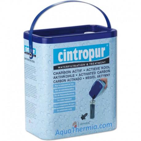 charbon actif CINTROPUR en bidon, est un très bon bactéricide , pour l'eau de distribution et l'eau de pluie