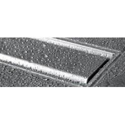 canivelle de tub de douche en carrelage, caniveau intégré au carrelage drain inox à encaster dans le sol de la douche