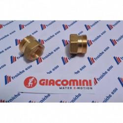 "raccord droit   GIACOMINI filetage 3/4"" femelle x AA 22 pour tube multiskin ø 26 x 3 mm"