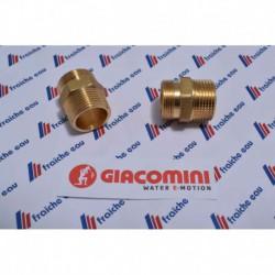 ccouplement pour tube multipex diamètre 26 x 3 mm filetage. AA 22 x 3/4 mâle , l'écrou est a commander séparément