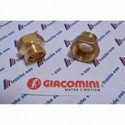 raccord fileté 4/4 femelle x filetage AA 22 pour la connexion d'un tube peu-al-pex 26 x 3 mm