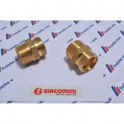 raccord droit GIACOMINI  3/4 mâle x filetage pour ecrou universel M18 , connexion mécanique à compression