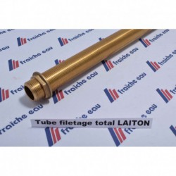 "tube laiton massif filetage total 50 cm x 1/2"" BSP"