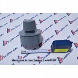 aérateur de décharge NICOLL 75 à 80 mm , pic gris, a coller