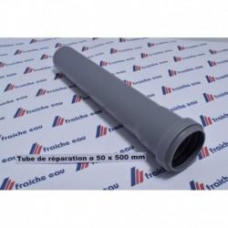 tube de réparation , emboitement a joint ø  50 x 500 mm à tournai et ath
