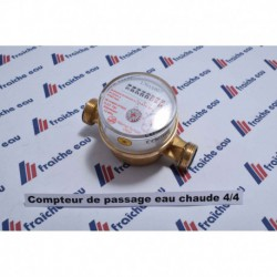 compteur de passage pour eau chaude, application sanitaire , écartement à préciser 110 ou 130 mm