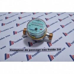 compteur d'eau de passage pour application sanitaire , écartement 110 et 130 mm à préciser