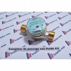"""compteur de passage eau froide  raccord 4/4"""" x 130 mm"""