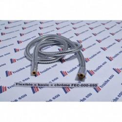 """flexible de mitigeur de cuisine anneaux chrôme  M15 x1/2""""- 120 cm"""