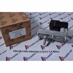 moteur de vis d'alimentation poêle à pellets axe ø9,5 mm/ 1,3 RPM, motoréducteur de foyer, insert  à pellets