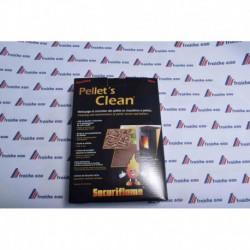 PELLETCLEAN  granulé de nettoyage préserve le rendement de votre poêle où insert à pellets pendant la saison