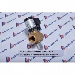 electro vanne gaz butane / propane 6 bars raccordement FF 3/4 ,  fermée hors tension  , bobine 220 volts