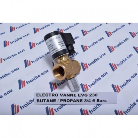 "electro vanne gaz butane / propane 3/4"" NC 6 Bars  EVG230 NC 034/6"