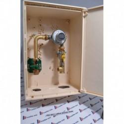 coffret extérieur pour la détente finale du gaz propane /butane fourni avec vanne et détendeur