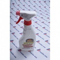 produit de nettoyage efficace pour vitre de poêle et insert ,dissous la suie , cassette à bois, présenté  en vapo