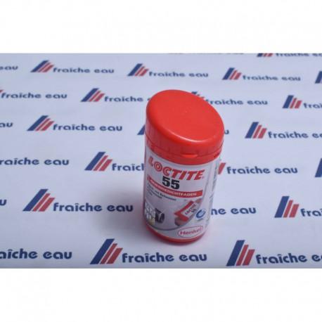 le fil LOCTITE  55 pour l'étanchéité des raccords filetés remplace avantageusement le chanvre, la graisse  et le teflon