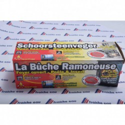 la bûche de ramonage est efficace mais ne dispense pas du ramonage de la cheminée