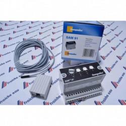 regulation climatique simple /  analogique TEMPOLEC SAM 91 , régulateur de  température de l' eau de chauffage